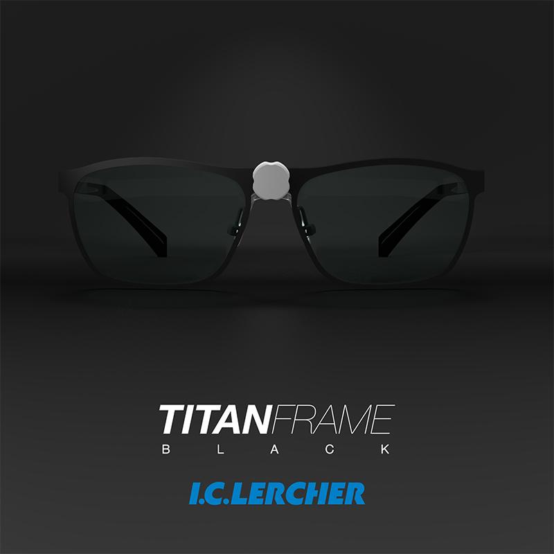 Lupbriller TITANIUM stel sort